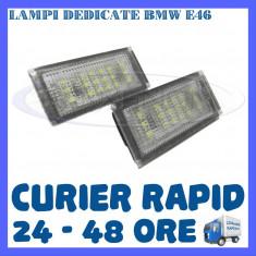 SET LAMPI NUMAR INMATRICULARE BMW SERIA 3 E46 - 18 LEDURI - Led auto ZDM, Universal