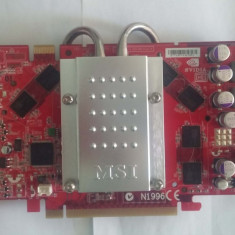 Placa video PCI-E x16 512MB DDR3 MSI NX7900GT tv out-dual dvi-vivo-hdtv pasiva, PCI Express, nVidia