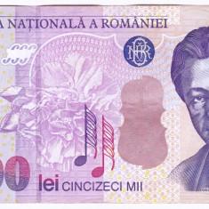 Bancnota 50.000 lei 2000 ( 50000 lei 2000 ) George Enescu Sfinxul Bucegi VF+(3) - Bancnota romaneasca