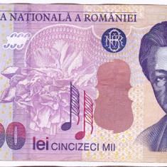Bancnota 50.000 lei 2000 ( 50000 lei 2000 ) George Enescu Sfinxul Bucegi (2) - Bancnota romaneasca