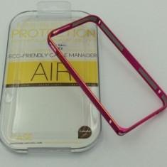 Bumper aluminiu iPhone 4 / 4S Roz - Bumper Telefon Apple