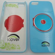 Capac spate iCOVER iPhone 5 Albastru - Husa Telefon Apple, iPhone 5/5S/SE