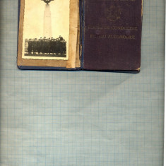 PERMIS DE CONDUCERE PENTRU AUTOMOBILE- INTERBELIC- AVIATOR MILITAR?- RARITATE - Pasaport/Document, Romania 1900 - 1950
