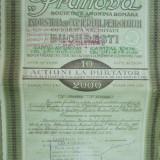 Prahova societate anonima petrol Bucuresti 1935 10 actiuni  a 200 lei 2000 lei