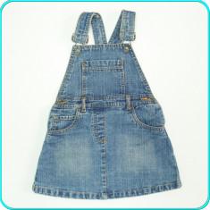 Sarafan de primavara-vara, denim de calitate, IMPIDIMPI _ fetite | 3-4 ani | 104, Marime: Alta, Culoare: Albastru