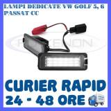 SET LAMPI PLACUTA INMATRICULARE 18 LED SMD - VOLKSWAGEN VW GOLF 5 6 PASSAT SEAT - Led auto ZDM, Universal