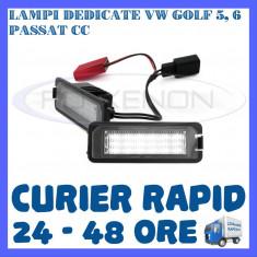 SET LAMPI PLACUTA INMATRICULARE 18 LED SMD - VOLKSWAGEN VW GOLF 5 6 PASSAT SEAT ZDM, Universal