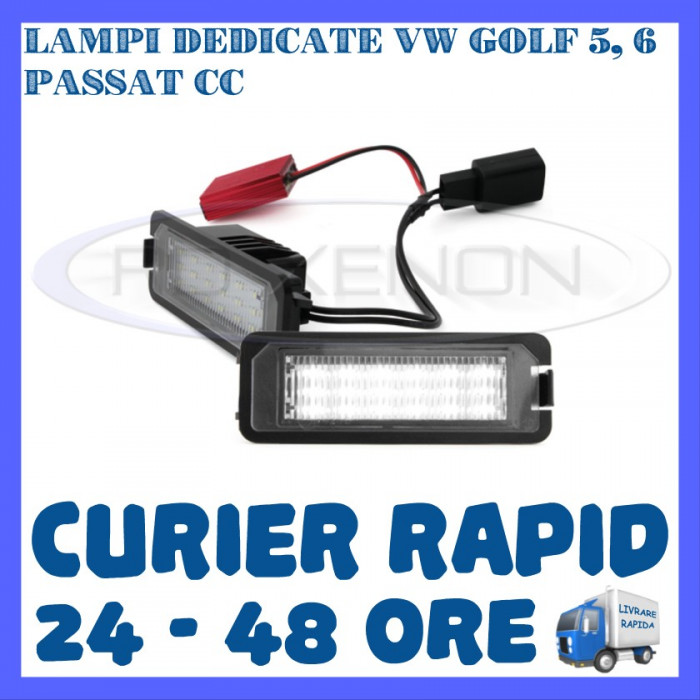 SET LAMPI PLACUTA INMATRICULARE 18 LED SMD - VOLKSWAGEN VW GOLF 5 6 PASSAT SEAT foto mare