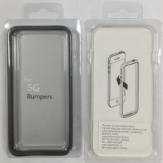 Bumper fit case iPhone 5 / 5S Negru - Husa Telefon Apple, iPhone 5/5S/SE