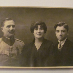 GE - Ilustrata fotografie veche BACAU familie ofiter roman 1922, Necirculata