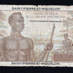 SAINT PIERRE MIQUELON 20 Francs 061008356 ND (1950-60) P#24 - bancnota america
