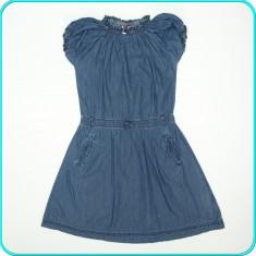 Rochie de vara, subtire, denim de calitate, YIGGA _ fete | 11 - 12 ani | 152, Marime: Alta, Culoare: Bleumarin