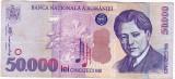 Bancnota 50.000 lei 2000 ( 50000 lei 2000 )  George Enescu Sfinxul Bucegi (3)