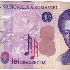 Bancnota 50.000 lei 2000 ( 50000 lei 2000 ) George Enescu Sfinxul Bucegi (3) - Bancnota romaneasca