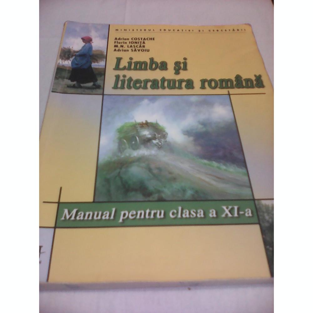 LIMBA SI LITERATURA ROMANA MANUAL CLASA XI ADRIAN COSTACHE,EDITURA ART  foto. Mărește imagine