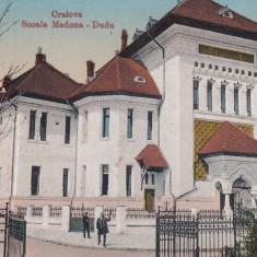 CRAIOVA, SCOALA MADONA - DUDU, CIRC. MILTARA, SEP.''917 - Carte Postala Oltenia 1904-1918, Circulata, Printata