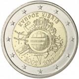 CIPRU moneda 2 euro comemorativa 2012 TYE - 10ani euro, UNC, Europa, Cupru-Nichel