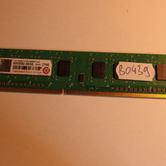 Memorie RAM 1GB DDR3 PC desktop Transcend ( 1 GB DDR 3 ) (BO439), 1333 mhz