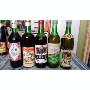 Vinuri foarte vechi,de colectie,14 sticle vin si 5 sampanie
