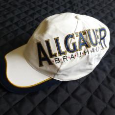 Basca Allgauer Brauhaus; 100% bumbac; marime universala, reglabila; ca noua - Sapca Barbati, Culoare: Din imagine