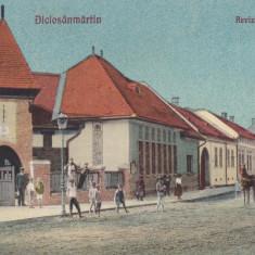 DICIOSANMARTIN (TARNAVENI), REVIZORATUL SCOLAR, CIRCULATA DEC.*927 - Carte Postala Maramures dupa 1918, Printata