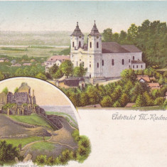 ARAD LIPOVA SALUTARI DIN MARIA RADNA LITOGRAFIE CIRCULATA 1900 - Carte Postala Crisana pana la 1904, Printata