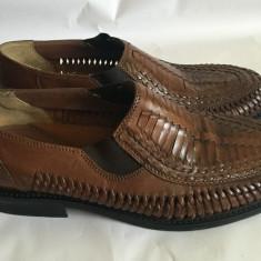 Pantofi de vara pt. barbati din piele Easy Street mar. 42 - Pantofi barbat Adidas, Culoare: Maro, Piele naturala