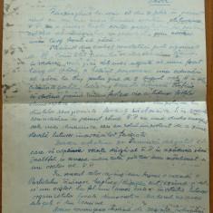 Foaie manuscris cu text olograf Petru Groza , 1936