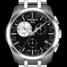 Ceas Tissot Couturier GMT ecran negru, Casual, Quartz, Inox