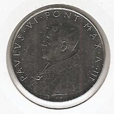 Vatican 100 Lire 1965 - Paulus VI, K70, 27.75 mm, KM-82, Europa