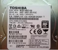 HDD SATA Hard disk Laptop Notebook 1TB TOSHIBA MQ01ABD100 5400RPM 8MB pret REDUS foto