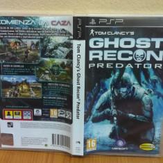 Tom Clancy's: Ghost Recon - Predator (PSP) (ALVio) + sute de Jocuri PSP Ubisoft, Actiune, 16+