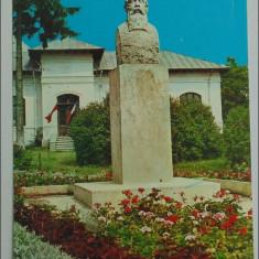Valenii de Munte.Bustul lui Iorga - Carte Postala Muntenia dupa 1918, Circulata, Printata