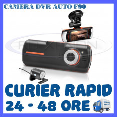 CAMERA VIDEO DVR AUTO MARTOR ACCIDENT F90 HD 1080P - SUPRAVEGHERE AUTO - Camera video auto ZDM, 32GB, Wide, Double, Senzor imagine MP CMOS: 12, Full HD