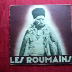 Brosura Turistica Folclor - Les Roumains -lb.franceza ,anii '30-Ilustratii