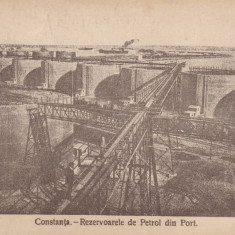 CONSTANTA, REZERVOARELE DE PETROL DIN PORT - Carte Postala Dobrogea dupa 1918, Necirculata, Printata