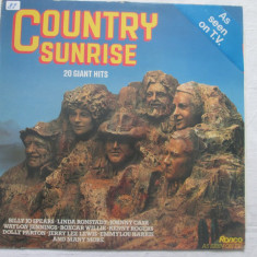 Various ‎– Country Sunrise (20 Giant Hits) _ vinyl(LP, compilatie) UK - Muzica Country Altele, VINIL