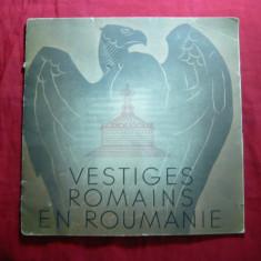 Brosura Turistica Vestigii Istorice Romanesti  -lb.franceza ,anii '30-Ilustratii