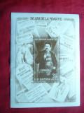 Bloc  si serie 3 val. -50 Ani de la moartea lui I.L.Caragiale -Romania 1962, Nestampilat
