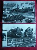 2 Ilustrate - Locomotive vechi cu abur , Germania