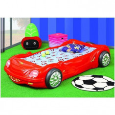 Patut Bobo Car - Plastiko - Rosu - Pat tematic pentru copii Plastiko, 140x70cm