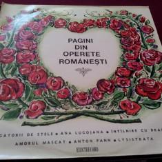 DISC VINIL PAGINI DIN OPERETE ROMANESTI - Muzica Opera