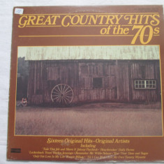 Various ‎– Great Country Hits Of The 70s _ vinyl(LP, compilatie) SUA - Muzica Country Altele, VINIL