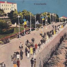 CONSTANTA, BULEVARDUL, EDITURA T. G., CONSTANTA, CIRCULATA - Carte Postala Dobrogea dupa 1918, Printata