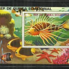 F 250 - PESTI - REP.DE GUINEA ECUATORIAL - COLITA NESTAMPILATA - Timbre straine