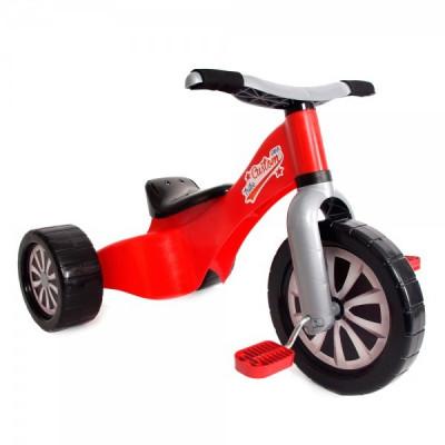 Tricicleta Copii Palau Din Plastic Rosie foto