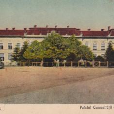 BANAT, CARANSEBES, PALATUL COMUNITATII DE AVERE, CIRCULATA 1940 - Carte Postala Banat dupa 1918, Printata