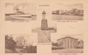 CONSTANTA , FARUL REGELE CAROL , VAPORUL IMPARATUL TRAIAN ,CASINO ,HOTEL PALACE