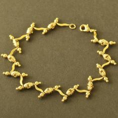 Superba bratara 9k GOLD FILLED - Bratara placate cu aur