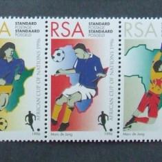 R.S. AFRICA 1996 - FOTBAL AFRICA 5 VALORI IN STRAIF, NEOBLITERATE - AS 216, Sport